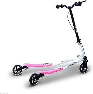HOMCOM Patinete Scooter de 3 Ruedas Plegable Scooter de