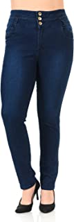 Pasion Women's Jeans - Plus Size - High Waist - Push Up - Style N487