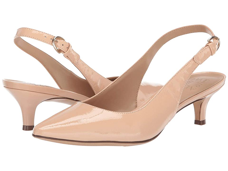 Pin Up Shoes- Heels, Pumps & Flats Naturalizer Peyton Soft Nude Patent Leather Womens 1-2 inch heel Shoes $98.95 AT vintagedancer.com