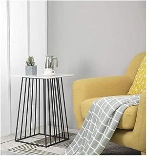 Table d'appoint Table de Chevet Table de bout, Table basse en marbre, Table d'appoint du salon Chambre Canapé Couloir Fami...