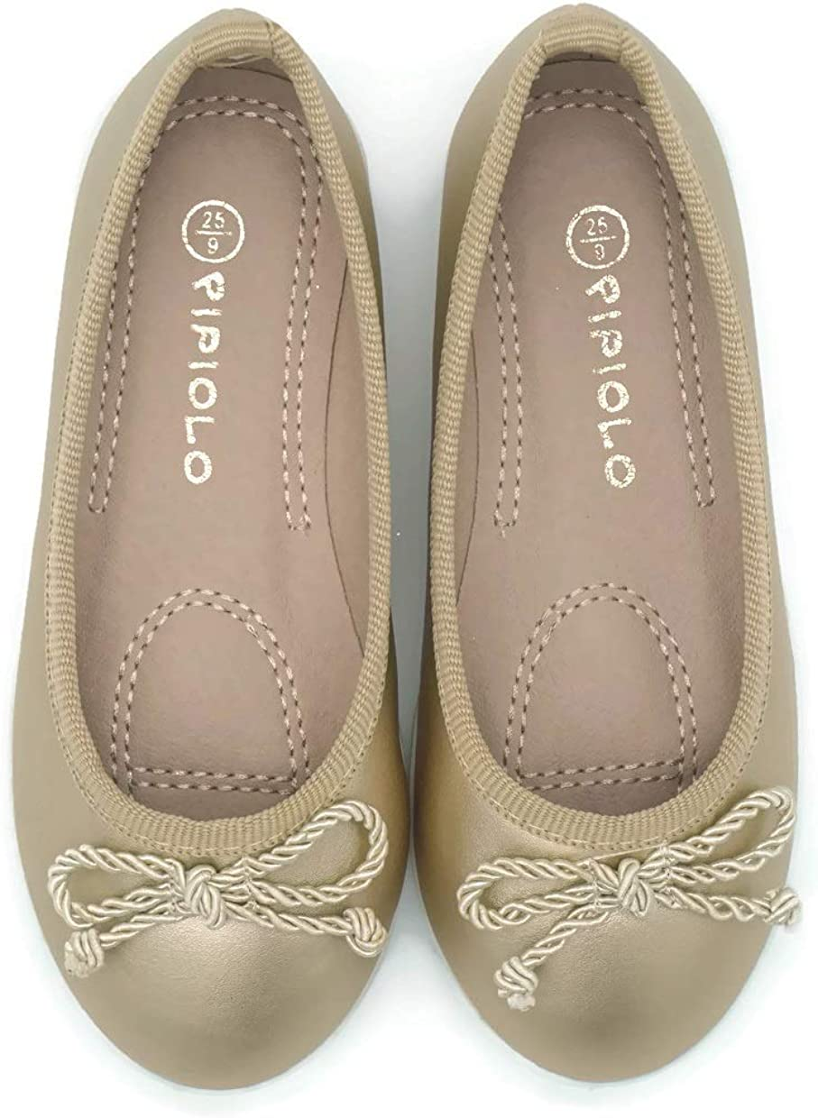 Pipiolo Sport Bow Slip On Boston Mall Ballet T Girls for Shoes Super sale period limited – Flats
