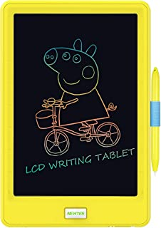 Upgraded 10 Inch Writing Board Colorful Version with Lock Function Erasable Electronic Doodle and Scribble Board Drawing Memo Notes Taking Gifts for Kids & Adults with 1 Lanyard Yellow