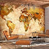 murando - Fotomural Vintage 400x280 cm - Papel tejido-no tejido - Papel pintado - mapa mundi k-A-0315-a-a