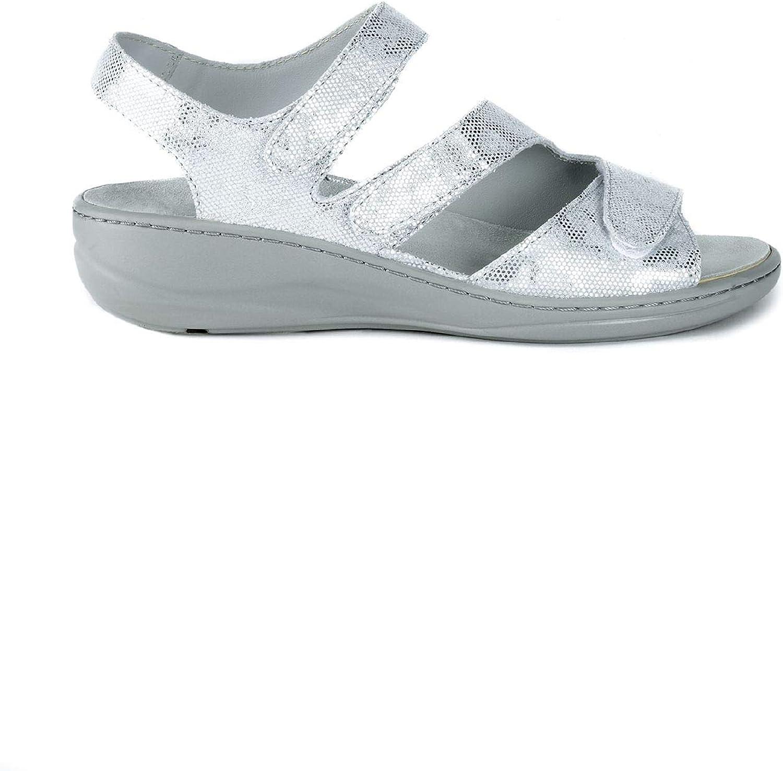 Avena Damen Damen Klett-Sandale Memory Grau GR.38  100% authentisch