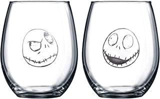 Nightmare Before Christmas Collectible Wine Glass Set (Jack & Jack)