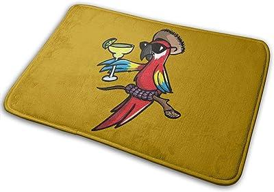 Tipsy Parrot Carpet Non-Slip Welcome Front Doormat Entryway Carpet Washable Outdoor Indoor Mat Room Rug 15.7 X 23.6 inch