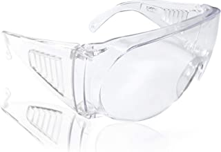 Goggle Safety Glasses Taiwan Made Anti-Fog Lab Eye Shield for Contaminated Droplets Gardening Chemistry Construction Sites Daily Protective Eyewear (1 Pair)