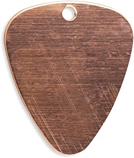 RMP Stamping Blanks, 1 Inch x 1.188 Inch Guitar Pick with Hole, 16 oz. Copper 0.021 Inch (24 Ga.) - 10 Pack