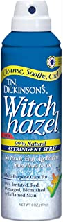 T.N. Dickinson's Witch Hazel 99% Natural Astringent Spray, 6 Ounces Each (Value Pack of 2)