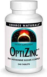 Source Naturals OptiZinc Zinc Methionine Sulfate Complex & Dietary Supplement - 240 Tablets