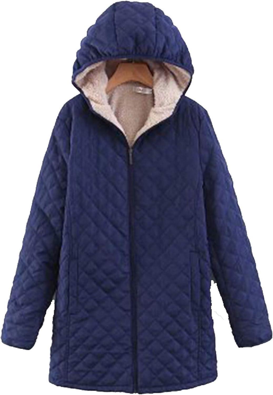 Women's Hooded Puffer Cotton Padded Coats , Windproof Ultra Light Coat for School