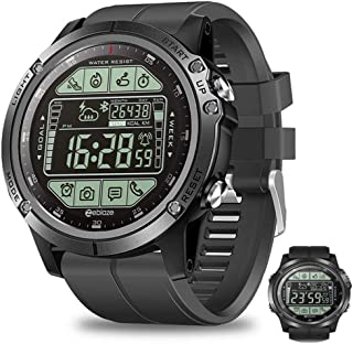 APCHY Sport Impermeable Reloj Smart Watch,Rastreador De Fitness De Impermeable 5Atm Largo Standby Sincronización De Clima De 1,24 Pulgadas Pantalla Corazón Build-In El Sensor De Presión