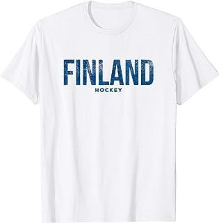 Finland Suomi Hockey Distressed Vintage T Shirt