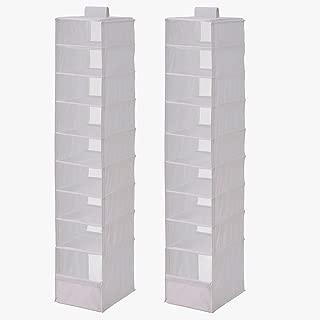 Ikea Organizer Closet Storage Hanging Skubb (2 Pack) White