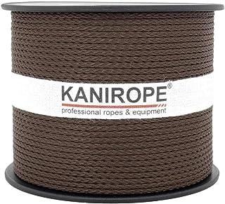 Kanirope PP Seil Polypropylenseil MULTIBRAID 2mm 100m Farbe Braun 0124 8x geflochten