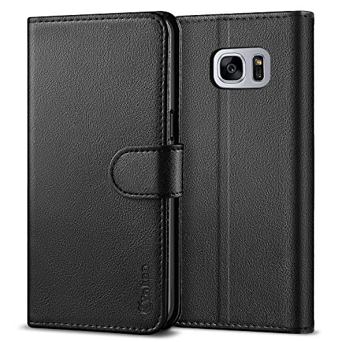 Vakoo Galaxy S7 Wallet Flip Cases, Samsung S7 Folio Case, Premium PU Leather Cases Phone Cover for Samsung Galaxy S7 5.1' (not for Samsung S7 Active)(Black)