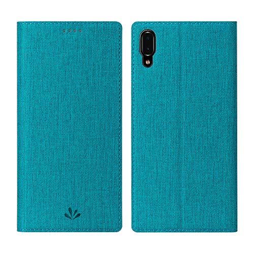 CRESEE Hülle Hülle für Sony Xperia L3, Handyhülle Leder Schutzhülle Flip Cover Bumper Standfunktion Kartenhalter Stoßfest Brieftasche Tasche für Xperia L3 (2019) Blau