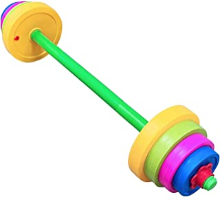 Liberty Imports Adjustable Barbell Toy Set for Children Pretend Play Exercise - Kids Beginner Gym, Workout, Weightlifting and Powerlifting (32 inches)