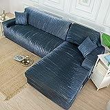 WXQY Funda de sofá elástica geométrica Simple Funda de sofá de Esquina en Forma de L Funda de sofá elástica Envuelta herméticamente combinación A11 1 Plaza