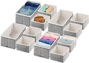 mDesign Soft Fabric Dresser Drawer and Closet Storage Organizer for Bedroom, Closet, Shelves, Drawers - Clothing/Accessory...