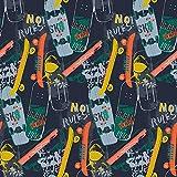 Hans-Textil-Shop Stoff Meterware Skateboards Baumwolle - 1