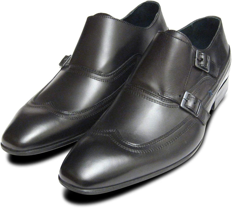 Designer svart svart svart Double Buckle Monk skor  världsberömd försäljning online