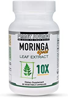 Sponsored Ad - Planet Source Moringa Gold Extract 10,000mg Miracle Tree Vitamin A,B,C,D,E, and Minerals - Anti-oxidants - ...