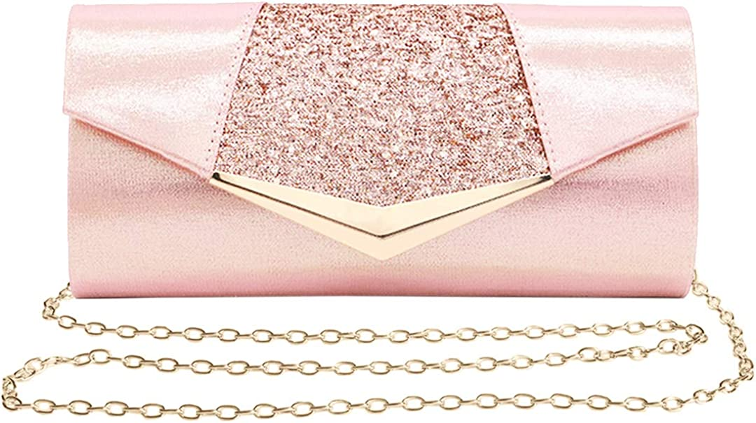 Naimo Flap Dazzling Clutch Houston Mall Bag NEW before selling Chain Detachable With Evening