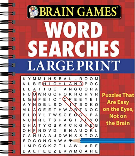 Compare Textbook Prices for Brain Games - Word Searches Large Print Red Edition ISBN 9781450802284 by Publications International Ltd.,Brain Games