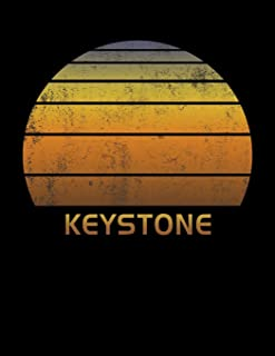 Keystone: Colorado Wide Ruled Notebook Paper For Work, Home Or School. Vintage Sunset Note Pad Journal For Family Vacations. Travel Diary Log Book For ... & Kids With 8.5 x 11 Inch Soft Matte Cover.