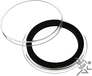 (5) Air-tite 32mm Black Ring Coin Holder Capsules for 1oz American Gold Eagles and 1oz Gold Krugerrands & Kangaroos