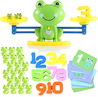 Lemostaar Balance Math Game: Educational Toys Math Games for Kids Boys & Girls - STEM Learning Material Counting Toys - Fu...
