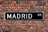 Aersing Placa Decorativa con Texto en inglés Madrid Visitor Souvenir City in Spain Madrid, Nativo de la Ciudad de Madrid, 45 x 10 cm