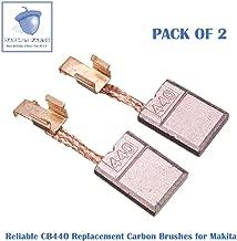 2PCS Reliable CB440 Carbon Brushes Replacement for Makita CB-440 CB-448 CB-436 195021-6 194427-5, 194159-4, CB434,191975-5, 195020-8, 193466-2 (2 pcs/pack)