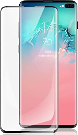 Priefy Full Glue 5D Tempered Glass Screen Protector for Samsung Galaxy S10 Plus [Black]