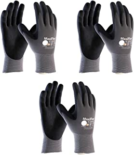 Maxiflex 34-874 Ultimate Nitrile Grip Work Gloves, Medium, 3 Piece
