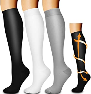 Best Compression Socks,(3 Pairs) Compression Sock Women and Men Best Running, Athletic Sports, Crossfit, Flight Travel Review