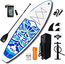 "FunWater Inflatable 10'6×33""×6"" Ultra-Light (17.6lbs) SUP for All Skill Levels Everything Included with Stand Up Paddle Bo..."