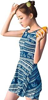 水着 レディース 体型カバー ワンピース 大きいサイズ 花柄 ブルー オールインワン ワイヤー入り パット付き 着痩せ ラッシュガード 海水浴 温泉 かわいい おしゃれ ママ水着 小胸もピッタリ M-4XL