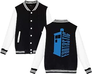 Doctor Who Fantastic Tardis Mens & Womens Particular Hoodie Baseball Uniform Jacket Sport Coat Black