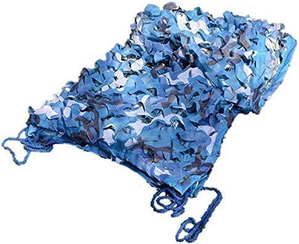 Filet de camouflage parasol multi-usage Décoration de camping en filet de camouflage bleu marine (taille  2x5m) Bache AI LI WEI (Taille   6X8M)
