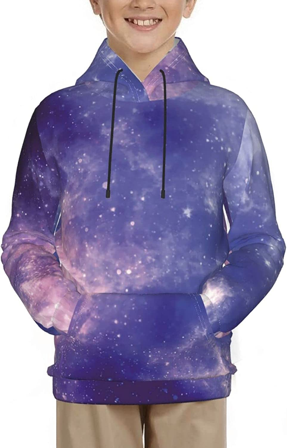 Galaxy Hoodies, Fashion 3D Print Sweatshirts, with Pocket Long Sleeves Pullover, for Boys Girls