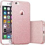 HQ-CLOUD Housse étui Coque Gel en Silicone Paillette Bling Bling pour Apple iPhone 6 /6S Rose Brillant