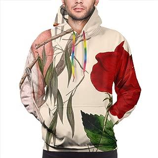 Tropical Birds Cream Pullovers Hoodie Long Sleeve Hooded Athletic Hoodies Sweatshirts