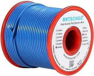 Bntechgo 26/AWG 1007/Fil /électrique en PVC de calibre 26/1007/dor/és Hook Up Fil 300/V Stranded /étam/é Fil de cuivre Blanc 30,5/m par bobine pour DIY
