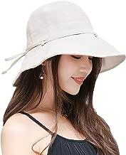 FaroDor Women Summer Sun Hat UV Sun Protection Wide Brim Cap Foldable Floppy Bucket Hat