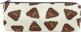 ALAZA Emoji Poop Cylinder Pencil Case Holder Zipper Large Capacity Pen Bag Pouch Students Stationery Cosmetic Makeup Bag