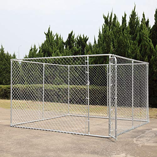 BWM.Co Dog House Kennel Large Cage Pen Outdoor Pet Durable Metal Fence 10' x 10'x 6'