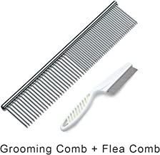 FiveADD MESIMME Pet Stainless Steel Grooming Dog Comb and Dog Cat Flea Comb
