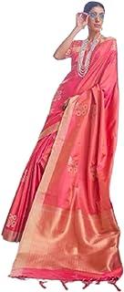بلوزة حريمي هندي هندي من الحرير الناعم بناراسي من تصميم تقليدي وردي 5760